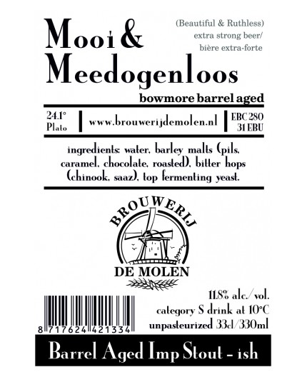 Mooi & Meedogenloos , bowmore BA , 11,8% - 33cl (DE MOLEN)
